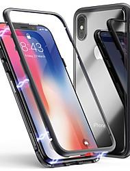 Недорогие -Cooho Кейс для Назначение Apple iPhone X / iPhone 7 Plus Защита от удара / Защита от пыли / Прозрачный Кейс на заднюю панель Однотонный Твердый Закаленное стекло / ПК для iPhone X / iPhone 8 Pluss