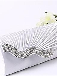 billige -Dame Tasker Satin håndtaske Krystaldetaljering Beige / Grå / Mandel