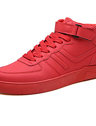 abordables -Homme Chaussures de confort Cuir Hiver Décontracté Basket Augmenter la hauteur Noir / Marron / Rouge