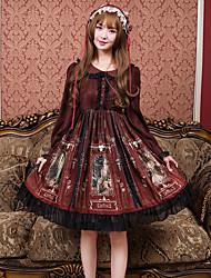 abordables -Robes en Autre matériel Lolita Ōji (Style Garçon Manqué) Lolita Simple Midi