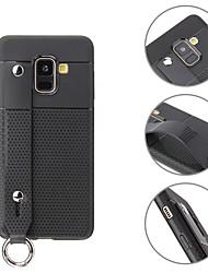 Недорогие -Кейс для Назначение SSamsung Galaxy A8 Plus 2018 / A8 2018 Кольца-держатели / Ультратонкий Кейс на заднюю панель Однотонный Мягкий ТПУ для A6 (2018) / A6+ (2018) / A8 2018