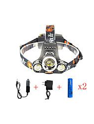 Недорогие -13000 lm Налобные фонари / огни безопасности / Фары для велосипеда LED 1 Режим Угловой фонарь / Подсветка для авто / Очень легкие