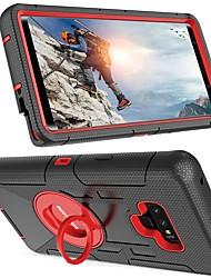 Недорогие -BENTOBEN Кейс для Назначение SSamsung Galaxy Note 9 / Note 8 Защита от удара / Кольца-держатели / Матовое Чехол Однотонный Твердый Силикон / ПК для Note 9 / Note 8 / Note 5