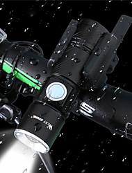 Недорогие -Светодиодные фонари Светодиодная лампа Велосипедные фары Велоспорт Водонепроницаемый, Стрейч, Портативные Литий-ионная аккумуляторная батарея 400 lm Белый