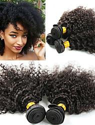 tanie -3 zestawy Włosy peruwiańskie Afro Kinky Kinky Curl 10A Włosy naturalne remy Doczepy z naturalnych włosów 8-26 in Natutalne Ludzkie włosy wyplata Najwyższa jakość Nowości Gorąca wyprzedaż Ludzkich