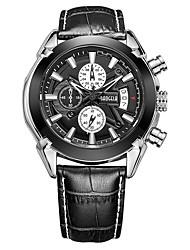 Недорогие -BAOGELA Муж. Спортивные часы Японский Японский кварц Натуральная кожа Черный / Коричневый 30 m Защита от влаги Календарь Секундомер Аналоговый Аналого-цифровые На каждый день Мода - Черный Коричневый