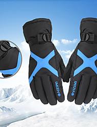 Недорогие -Спортивные перчатки / Зимние / Лыжные перчатки Муж. / Жен. Полный палец С защитой от ветра / Водонепроницаемость / Сохраняет тепло Фланель / Нейлон / Тканый хлопок