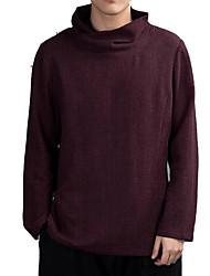 Недорогие -мужская футболка - сплошная цветная водолазка