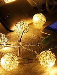 Недорогие -1,5 м Гирлянды 10 светодиоды Тёплый белый Декоративная Работает от USB 1 комплект