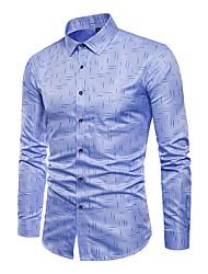 Недорогие -Муж. Рубашка Активный / Классический Геометрический принт