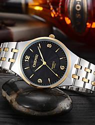 Недорогие -Для пары Нарядные часы Японский Кварцевый Серебристый металл 30 m Защита от влаги Повседневные часы Аналоговый На каждый день Мода - Белый Черный Золотистый