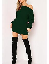 Недорогие -женское платье с короткими рукавами выше колена с плеча