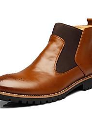 billiga -Herr Fashion Boots Syntet Höst Klassisk Stövlar Håller värmen Korta stövlar / ankelstövlar Svart / Brun / Vin