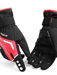 Недорогие -INBIKE Зима Перчатки для велосипедистов Лыжные перчатки Горные велосипеды Отражение Сохраняет тепло С защитой от ветра Дышащий Спортивные перчатки Силиконовый гель Черный Зеленый Красный для Взрослые