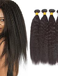 voordelige -4 bundels YakiRecht 8A Echt haar Niet verwerkt Menselijk Haar Menselijk haar weeft Verlenging Bundle Hair 8-28 inch(es) Natuurlijke Kleur Menselijk haar weeft Cosplay nieuwe collectie Cool