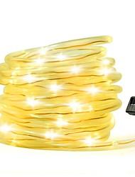 Недорогие -10 м Гирлянды 100 светодиоды Разные цвета / Теплый Желтый Декоративная Солнечная энергия 1 комплект