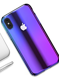 Недорогие -Кейс для Назначение Apple iPhone XR / iPhone XS Max Ультратонкий / Прозрачный Кейс на заднюю панель Градиент цвета Твердый ПК для iPhone XS / iPhone XR / iPhone XS Max