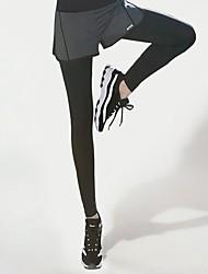 Недорогие -GOSOU≡R Жен. Сексуальные платья Запуск шорт с колготками Мода Эластан Zumba Тренировка в тренажерном зале Разрабатывать Велоспорт Колготки Спортивная одежда Легкость Быстровысыхающий Подтяжка