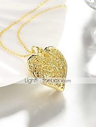baratos -Mulheres Colares com Pendentes - Chapeado Dourado Coração Doce, Fashion Coração, Adorável Dourado 50 cm Colar Jóias 1pç Para Diário, Trabalho