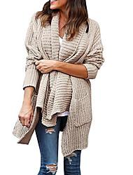 billige -Kvinders langermet slank cardigan - solidfarvet