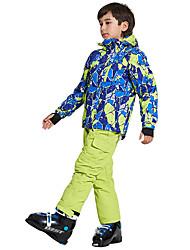 abordables -Wild Snow Garçon / Fille Veste & Pantalons de Ski Pare-vent, Chaud, Ventilation Ski / Multisport / Sports de neige Polyester, Maille Ensemble de Vêtements Tenue de Ski / Hiver
