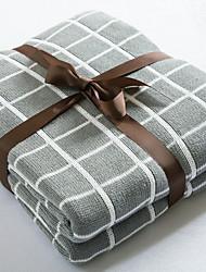 Недорогие -Одеяла, Геометрический принт Полиэстер Сгущать одеяла
