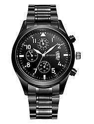 Недорогие -Муж. Спортивные часы Наручные часы Кварцевый Нержавеющая сталь Кожа Черный / Коричневый 30 m Защита от влаги Повседневные часы Аналоговый На каждый день Мода - Черный Коричнево-черный Черный / серый