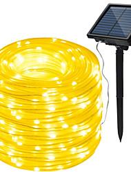 Недорогие -HKV 10 м Гирлянды 100 светодиоды Тёплый белый / Холодный белый / RGB Водонепроницаемый / Работает от солнечной энергии / Для вечеринок Солнечная энергия 1 комплект