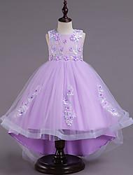 お買い得  -子供 女の子 ソリッド ハーフスリーブ ドレス