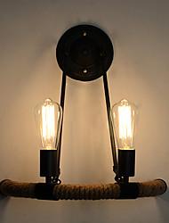Недорогие -Ретро Спальня / кафе пеньковый канат настенный светильник 110-120Вольт / 220-240Вольт