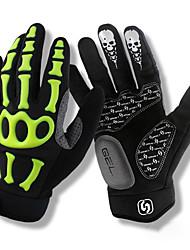 Недорогие -SPAKCT Спортивные перчатки Перчатки для велосипедистов Дышащий / Anti-Shake / Нескользящий Полный палец сверхтонкие волокна / Силиконовый гель Велосипедный спорт / Велоспорт Муж. / Жен.
