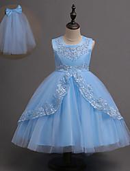 זול -שמלה ללא שרוולים טלאים בנות ילדים