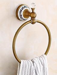 abordables -Barre porte-serviette Design nouveau / Cool Antique Laiton 1pc anneau de serviette Montage mural