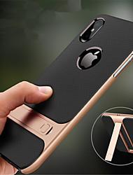 baratos -Capinha Para Apple iPhone XR / iPhone XS Max Com Suporte Capa traseira Sólido Rígida PC para iPhone XS / iPhone XR / iPhone XS Max