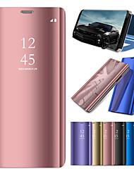 Недорогие -Кейс для Назначение Huawei Huawei Mate 20 Lite / Huawei Mate 20 Pro со стендом / Покрытие / Зеркальная поверхность Чехол Однотонный Твердый ПК для Mate 10 / Mate 10 pro / Mate 10 lite / Mate 9 Pro