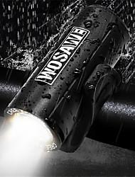 abordables -Eclairage LED LED Eclairage de Velo XP-G2 Cyclisme Imperméable, Taille de voyage, Transport Facile 18650 / Batterie au lithium 350 lm 18650 Blanc Camping / Randonnée / Spéléologie / Cyclisme - WOSAWE