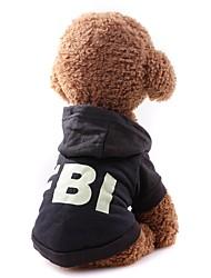 billige -Hunde / Katte Frakker / Sweatshirt Hundetøj Ensfarvet Sort / Rød Stof Kostume For kæledyr Unisex minimalistisk stil / Afslappet / Sportslig