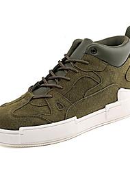 billige -Herre Komfort Sko Ruskind Efterår Sporty / Afslappet Sneakers Gul / Kaffe / Army Grøn