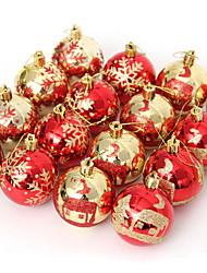 Недорогие -Праздничные украшения Рождественский декор Рождество Декоративная Красный 16шт