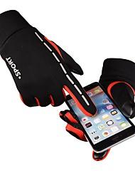 Недорогие -Перчатки для велосипедистов Перчатки для горного велосипеда Горные велосипеды Сенсорный экран С защитой от ветра На подкладке Противозаносный Спортивные перчатки Зима Силиконовый гель Махровая ткань