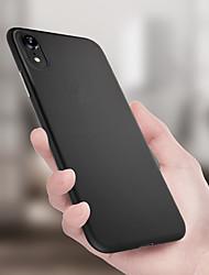 baratos -Capinha Para Apple iPhone XR / iPhone XS Max Ultra-Fina / Áspero Capa traseira Sólido Macia TPU para iPhone XS / iPhone XR / iPhone XS Max