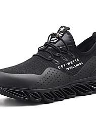 abordables -Homme Chaussures de confort Tissu élastique Printemps Sportif / Décontracté Chaussures d'Athlétisme Course à Pied Massage Noir / Noir / Rouge