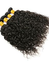 Недорогие -4 Связки Бирманские волосы Волнистые 8A Натуральные волосы Необработанные натуральные волосы Подарки Человека ткет Волосы Удлинитель 8-28 дюймовый Естественный цвет Ткет человеческих волос