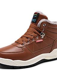 Недорогие -Муж. Комфортная обувь Кожа Зима На каждый день Ботинки Сохраняет тепло Коричневый