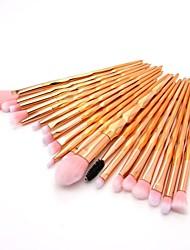 abordables -20pcs Pinceaux à maquillage Professionnel Pinceau à Blush / Pinceau Fard à Paupières / Pinceau à Lèvres Fibre Nylon Couvrant