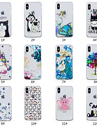 abordables -Coque Pour Apple iPhone X / iPhone 8 Relief / Motif Coque Animal / Arbre / Fleur Flexible TPU pour iPhone X / iPhone 8 Plus / iPhone 8