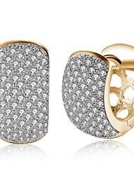 ieftine -Pentru femei Auriu Auriu Zirconiu Cubic Clasic Cercei - Modă Auriu Pentru Petrecere Zilnic