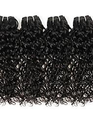 Недорогие -4 Связки Бразильские волосы Волнистые Натуральные волосы Необработанные натуральные волосы Человека ткет Волосы Сувениры для чаепития Уход за волосами 8-28 дюймовый Естественный цвет / Без запаха