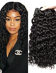 Недорогие -3 Связки Перуанские волосы Волнистые 8A Натуральные волосы Человека ткет Волосы Пучок волос One Pack Solution 8-28 дюймовый Естественный цвет Ткет человеческих волос
