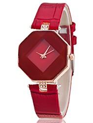 baratos -Mulheres Relógio de Pulso Quartzo Preta / Branco / Azul Relógio Casual Analógico Fashion Elegante - Roxo Vermelho Azul Um ano Ciclo de Vida da Bateria